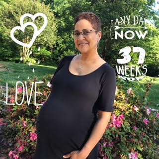 K Baby Bump Week 37 soft edges